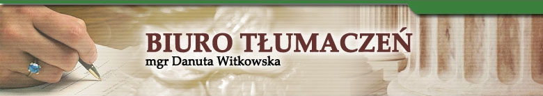 Danuta Witkowska - Tłumacz języka niemieckiego